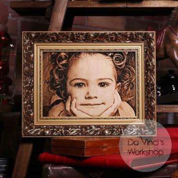 Портрет по фото с красивой рамкой