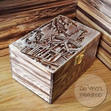 Деревянная шкатулка с фото
