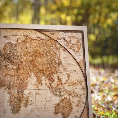 деревянная карта