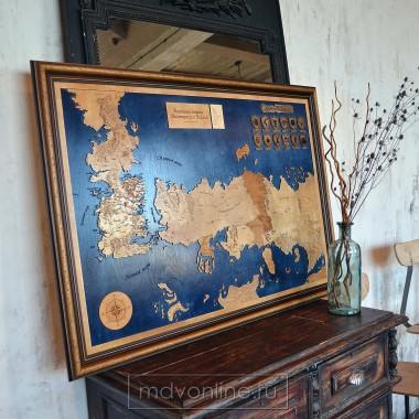 Карта Игра престолов