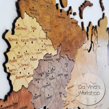 Карта России на стену